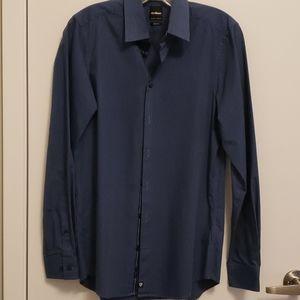 Men's Strellson Blue Slim Fit Dress Shirt 38/15